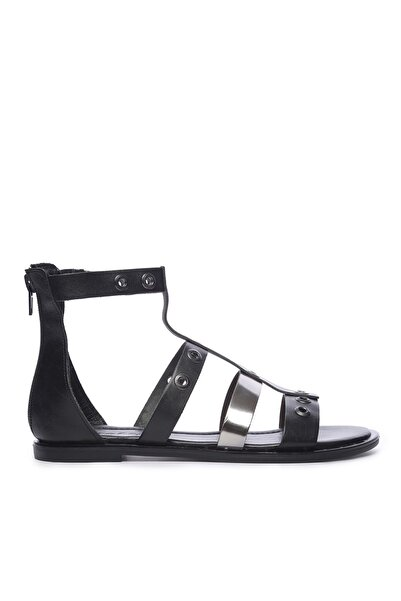 KEMAL TANCA Hakiki Deri Siyah Kadın Sandalet Sandalet 169 7280 BN SNDLT