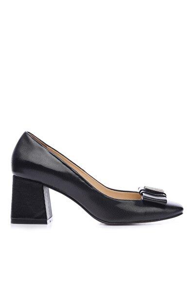 KEMAL TANCA Siyah Kadın Vegan Klasik Topuklu Ayakkabı 22 619 BN AYK