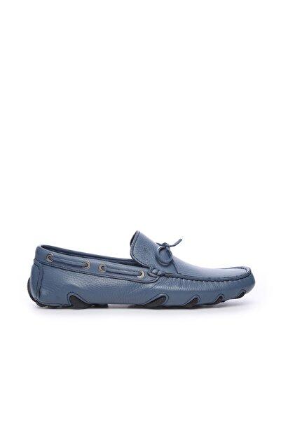 KEMAL TANCA Hakiki Deri Mavi Erkek Rok Ayakkabı 355 7929 ERK AYK Y20