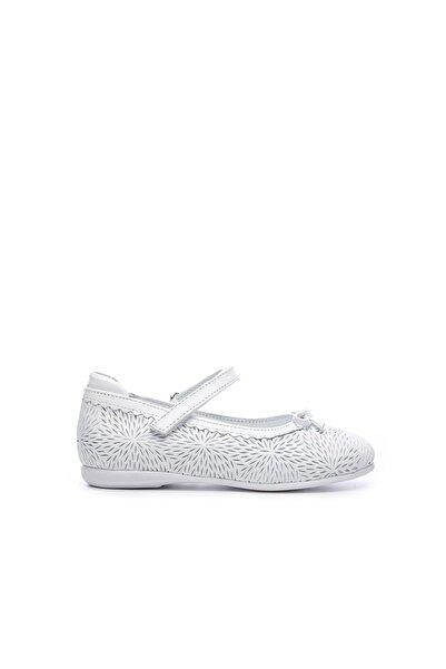 KEMAL TANCA Kız Çocuk Beyaz Hakiki Deri Babet Ayakkabı 552 613 CCK 21-30 Y19