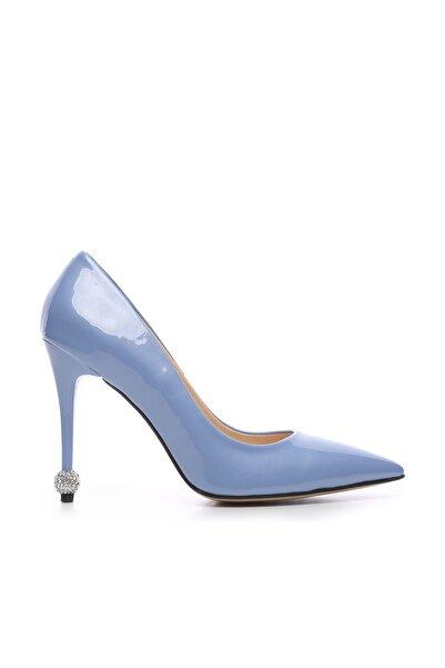 KEMAL TANCA Mavi Kadın Vegan Stiletto Ayakkabı 22 6139 BN AYK Y19