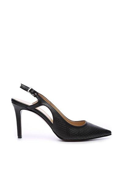 KEMAL TANCA Siyah Kadın Vegan Stiletto Ayakkabı 22 6253 BN AYK Y19