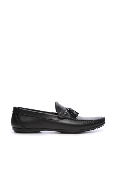 KEMAL TANCA Hakiki Deri Siyah Erkek Loafer Ayakkabı 682 8-996 ERK AYK Y19
