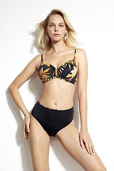 Bellisa Çiçek Desenli Battal Toparlayıcı Telli Bikini