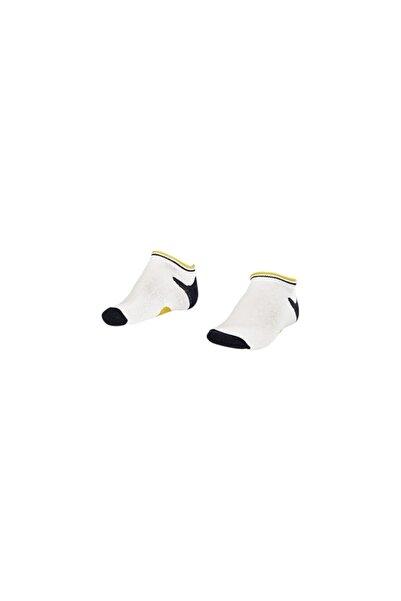 Lescon La-2187 Beyaz 3'lü Patik Çorap 26-30 Numara