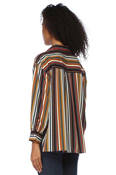 Dinamik Çizgili Cepli Pijama Formlu Gömlek