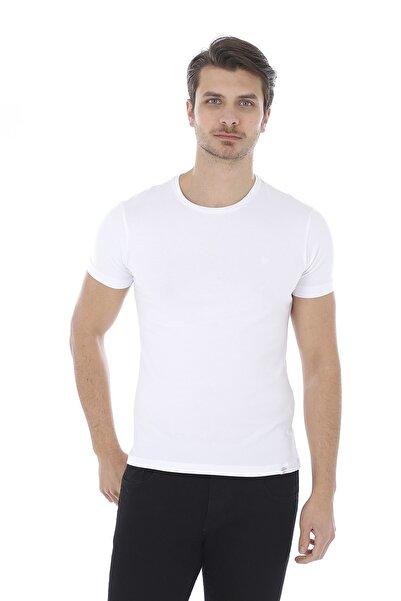 Lenasso Erkek Basic Beyaz T-shirt