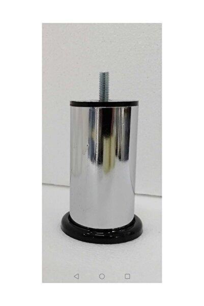 CAM MENFEZCİM 4 Adet 12 Cm Metal Baza Ayağı Vidalı Metal Krom Ayak 12 Cm 8 Metrix
