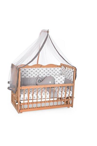 Bambidoo Ahşap beşik  60 x120 Organik  Sallanır Anne Yanı Beşik Uyku Setli ve Yataklı