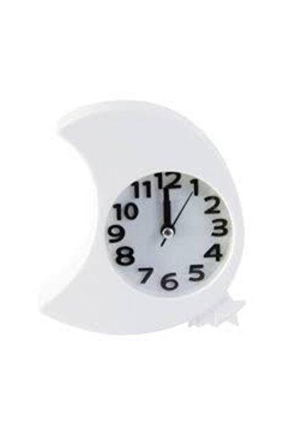 Lino Alarmlı Masaüstü Saat Beyaz Aydede