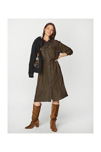 Faik Sönmez Kadın Siyah Çizgili Elbise 39241 U39241