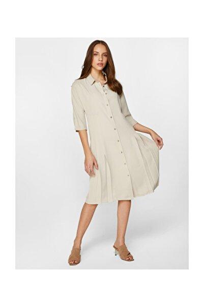 Faik Sönmez Kadın Pilise Detaylı Elbise 60261