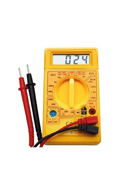 Toptancı Kapında Dijital Avometre Multimetre Ölçü Aleti Akım Voltaj Direnç Ölçer