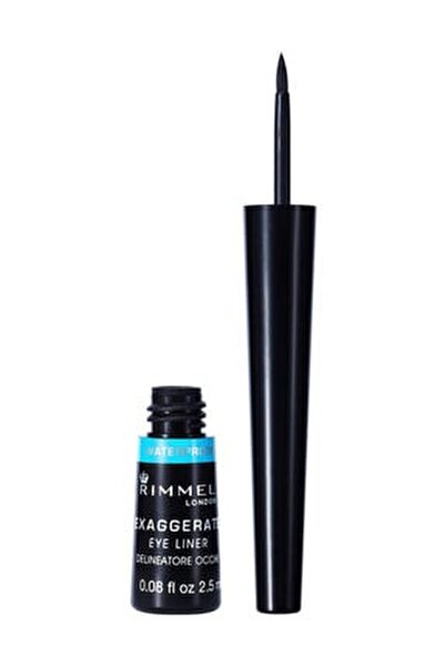 Siyah Eyeliner - Exaggerate Waterproof Eyeliner 003 Black 3607342493032