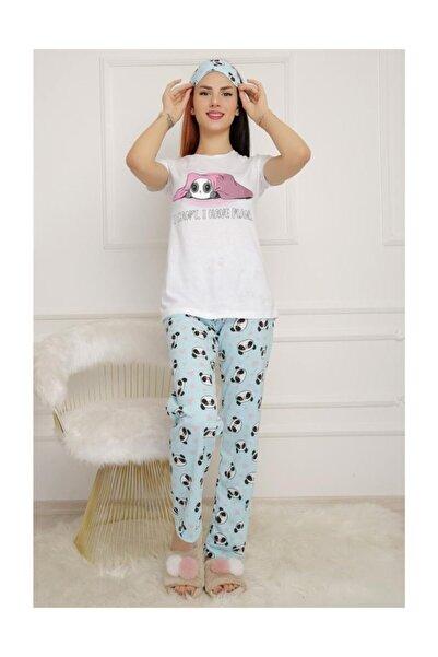 Lukas Kadın Pijama Takımı Beyazturkuaz  2520.1059.