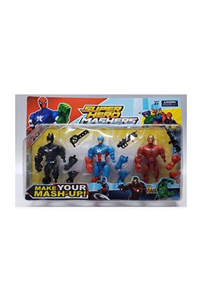 MRÇ Super Hero Mashers 3lü Figür Batman K.amerika Ve Demir Adam