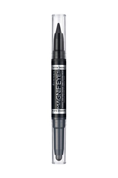 RIMMEL LONDON Göz Kalemi & Stick Göz Farı - Magnif'Eyes 2in1 Shadow & Stick 01 Back to Blacks 3614221693391