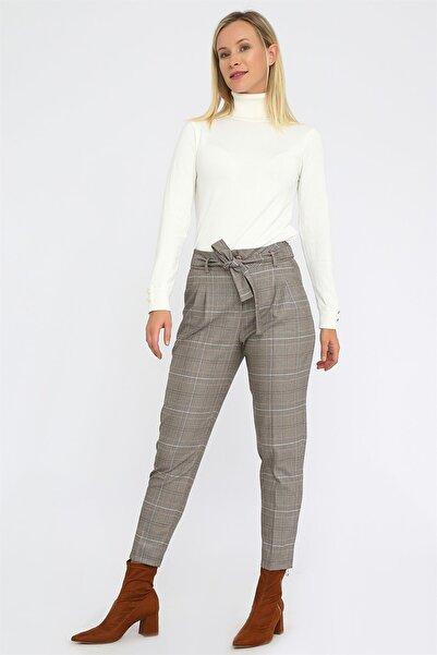 Chima Kuşaklı Yüksek Bel Pantolon