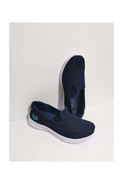 GEZER Ortopedik Aqua Babet Günlük Kadın Spor Ayakkabı Sneaker Fileli Lacivert 109