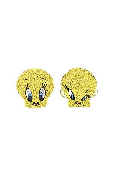 Swarovski Kol Düğmesi Looney Tunes:cufflinks Twt Ltop/jet/gos 5488598