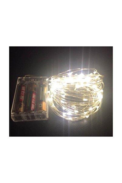 Led Peri Süs Işık 10 Metre (sarı) Pilli Aydınlatma Şerit