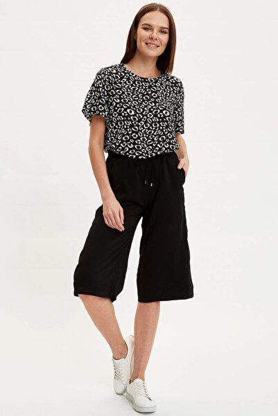 Kadın Siyah Desenli Bluz I3695AZ.20SM.BK46