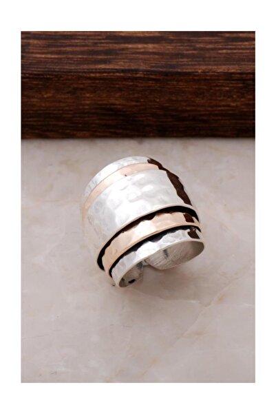 Sümer Telkari Çekiç Dövme Rose Gümüş Yüzük 490