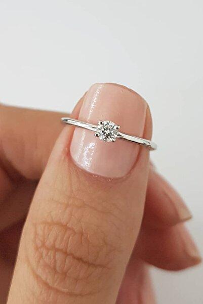 Crystal Diamond Zirconia 0.30 Carat Tektaş Yüzük