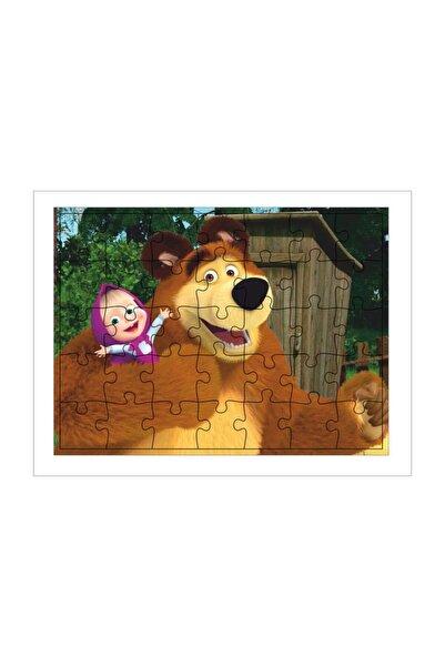 Walldeco Çocuk Ahşap Puzzle Maşa Ile Koca Ayı