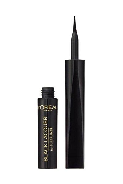 L'Oreal Paris Suya Dayanıklı Siyah Eyeliner - Super Liner Black Lacquer Waterproof Eyeliner 6 ml 3600522025252