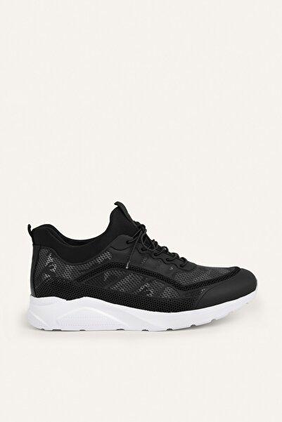 Mudo Erkek Siyah Desenli Çorap Sneaker 380658