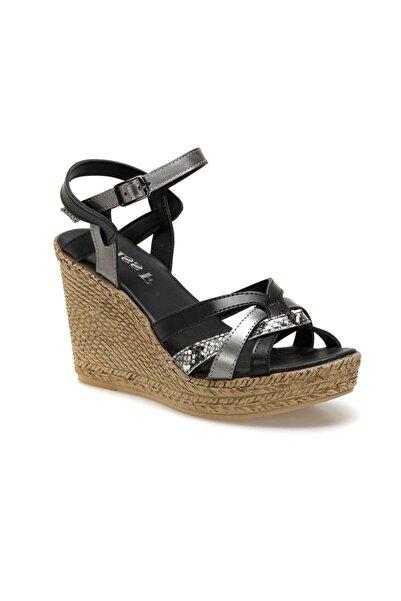 Miss F Siyah Kadın Sandalet