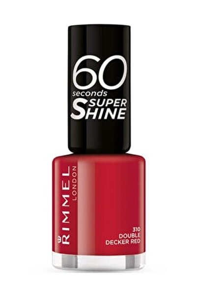 60 Saniyede Kuruyan Oje - 60 Seconds Super Shine 310 Double Decker Red 3614220616834