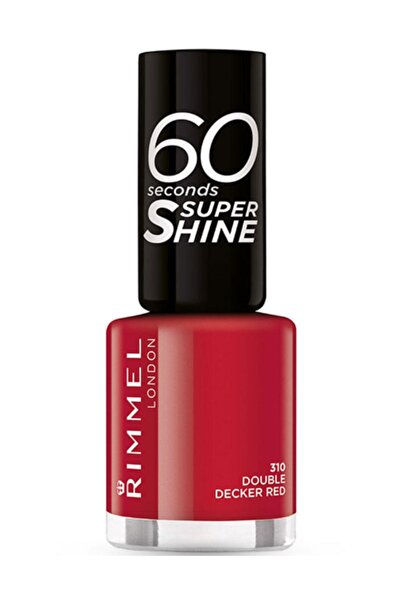 RIMMEL LONDON 60 Saniyede Kuruyan Oje - 60 Seconds Super Shine 310 Double Decker Red 3614220616834