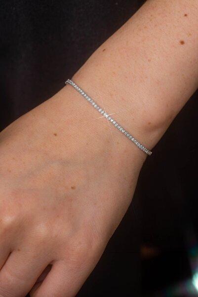 Crystal Diamond Zirconia 0.5 Carat Su Yolu Bileklik
