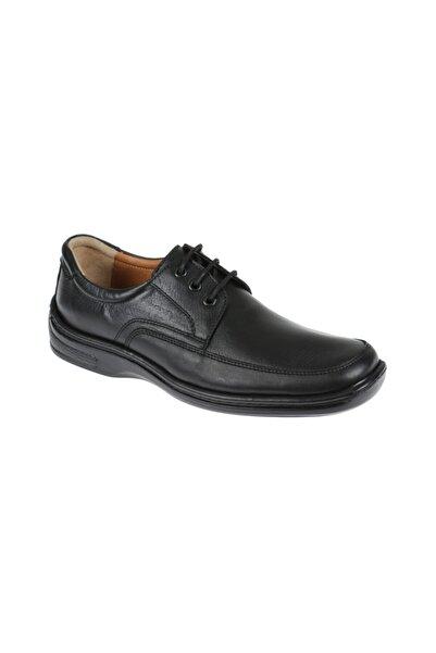 Friendly Erkek Siyah Hakiki Deri Comfort Ayakkabı