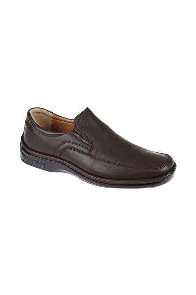Friendly Erkek Kahverengi Hakiki Deri Comfort Ayakkabı