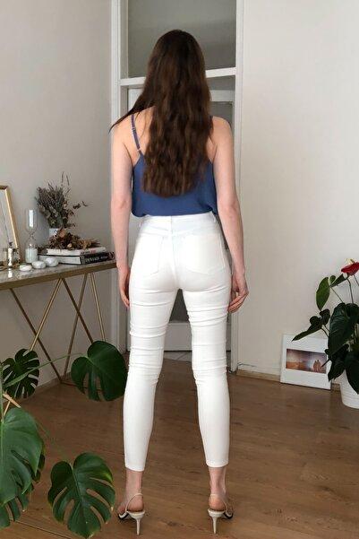 Beyaz Yüksek Bel Skinny Jeans TWOSS20JE0409