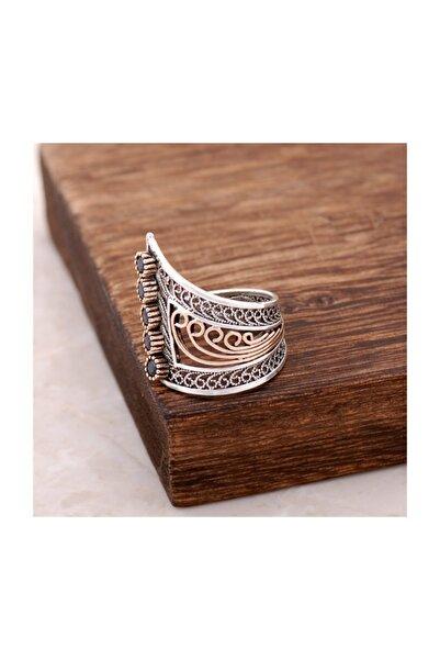 Sümer Telkari Safir Taşlı Telkari İşlemeli  Gümüş Yüzük 2509