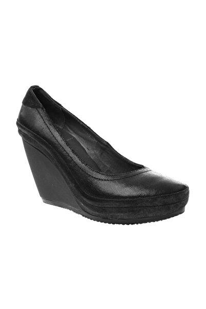 Logan Kadın Siyah Dolgu Topuklu Ayakkabı Cr9620