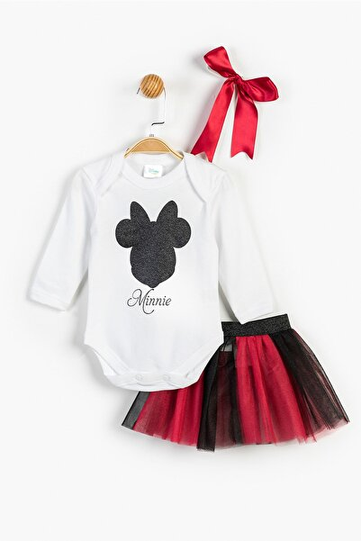 Disney Minnie Mouse Elbise ve Bandana 13470