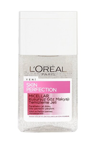 L'Oreal Paris Göz Makyajı Temizleyici - Skin Perfection Eye Make Up Remover Gel 125 ml 3600522626046