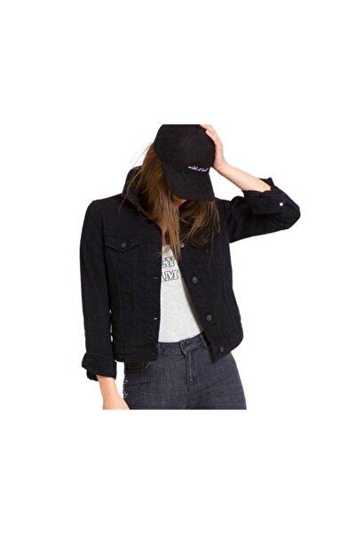 Citizen Kadın Siyah Kot Ceket