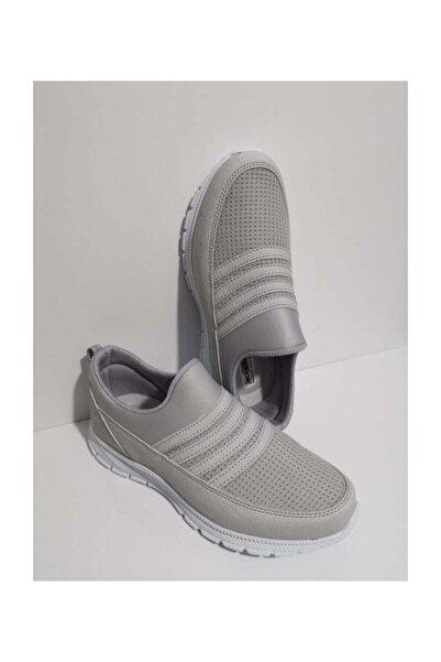 Jack Lion Erkek Ortopedik Aqua Lastikli Günlük Yürüyüş  Spor Ayakkabı Sneaker Fileli Buz 302