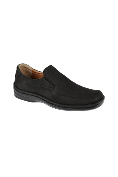 Friendly Hakiki Deri Siyah Erkek Comfort Ayakkabı