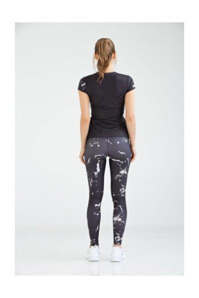 Kadın Slimfit Tayt T-shirt Takım Vb-0004 Tev Sportswear Suit