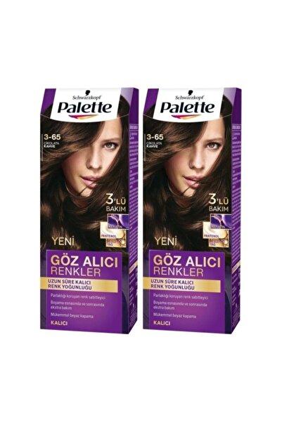 Palette Göz Alıcı Renkler 3-65 Çikolata Kahve  X 2 Adet