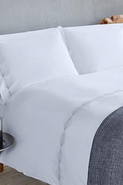 Chakra Cidro Nevresim Seti Çift Kişilik Beyaz - 200x220