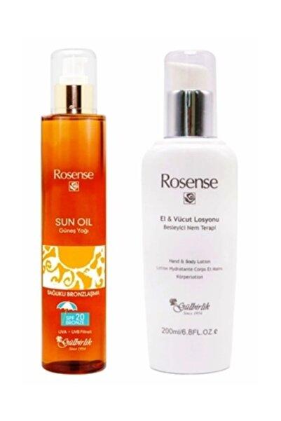 Rosense Güneş Yağı Spf 20 200 Ml. + Rosense El Ve Vücut Bakım Losyonu 200 Ml.