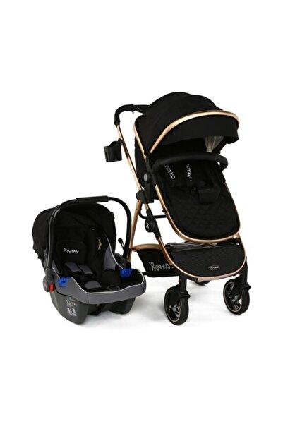 YOYKO City Seyahat Sistem Bebek Arabası 3 In 1 Siyah Rose